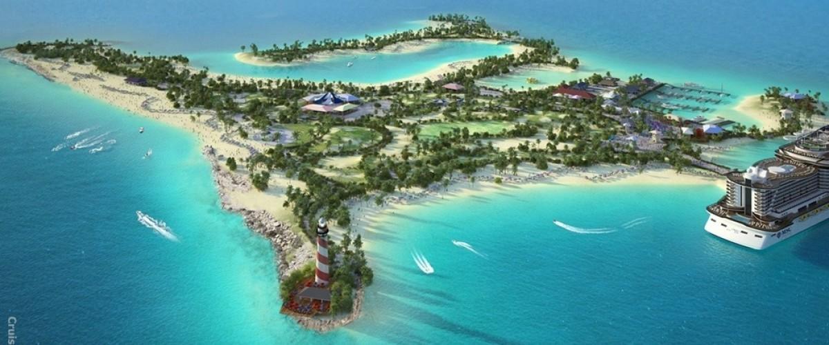 Inauguration de l'ile privée de MSC : Ocean Cay